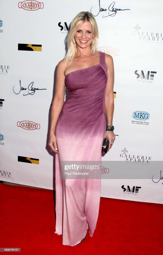 Actress Tiiu Loigu attend Jane Seymour Art Exhibition Opening Benefiting Open Hearts Foundation at Gallerie Sparta on October 3, 2013 in West Hollywood, California.