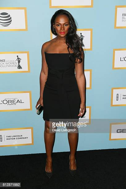 Actress Tika Sumpter arrives at the Essence 9th Annual Black Women event in Hollywood at the Beverly Wilshire Four Seasons Hotel on February 25 2016...