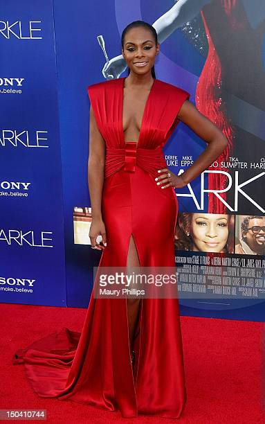 Actress Tika Sumpter arrives at the Los Angeles Premiere of Sparkle at Grauman's Chinese Theatre on August 16 2012 in Hollywood California