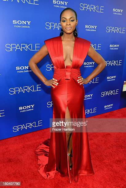 Actress Tika Sumpter arrives at TriStar Pictures' Sparkle premiere at Grauman's Chinese Theatre on August 16 2012 in Hollywood California