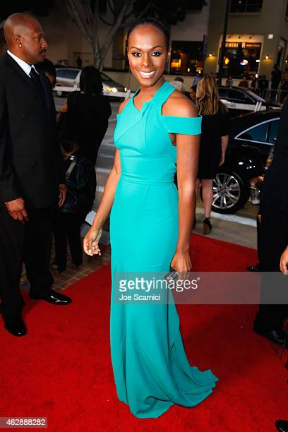 Actress Tika Sumpter attends the 46th NAACP Image Awards presented by TV One at Pasadena Civic Auditorium on February 6 2015 in Pasadena California