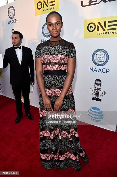 Actress Tika Sumpter attends the 47th NAACP Image Awards presented by TV One at Pasadena Civic Auditorium on February 5 2016 in Pasadena California
