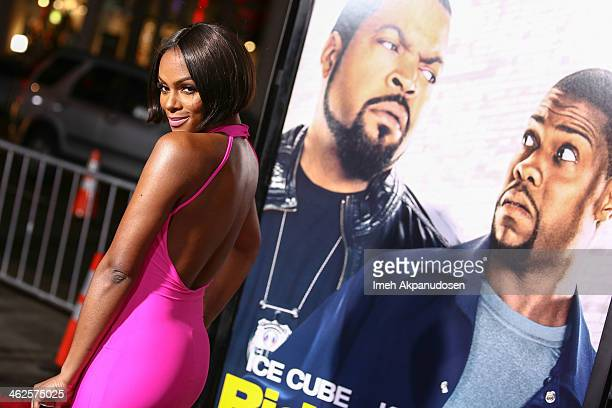 Actress Tika Sumpter attends the premiere of Universal Pictures' 'Ride Along' at TCL Chinese Theatre on January 13 2014 in Hollywood California