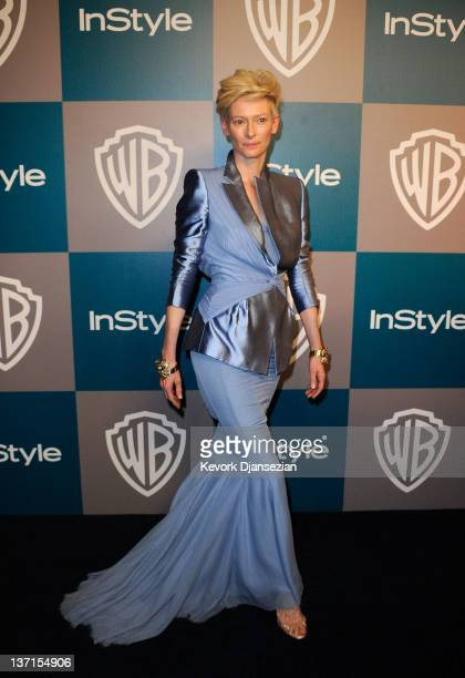 Actress Tilda Swinton arrives at 13th Annual Warner Bros. And InStyle Golden Globe Awards After Party at The Beverly Hilton hotel on January 15, 2012...