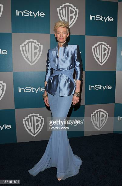 Actress Tilda Swinton arrives at the 13th Annual Warner Bros. And InStyle Golden Globe After Party held at The Beverly Hilton hotel on January 15,...