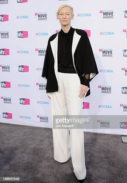 Actress Tilda Swinton arrives at the 17th Annual Critics Choice Movie Awards at The Hollywood Palladium on January 12 2012 in Los Angeles California