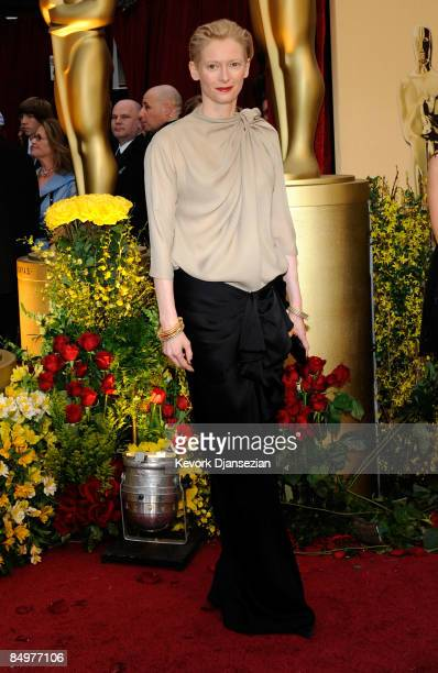Actress Tilda Swinton arrives at the 81st Annual Academy Awards held at Kodak Theatre on February 22 2009 in Los Angeles California