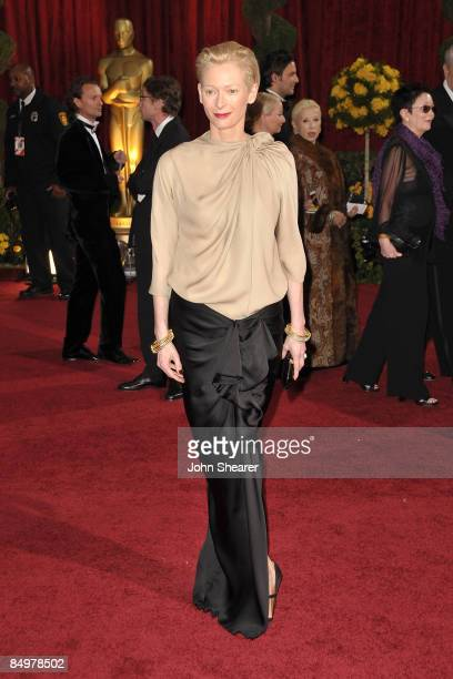 Actress Tilda Swinton arrives at the 81st Annual Academy Awards held at The Kodak Theatre on February 22 2009 in Hollywood California