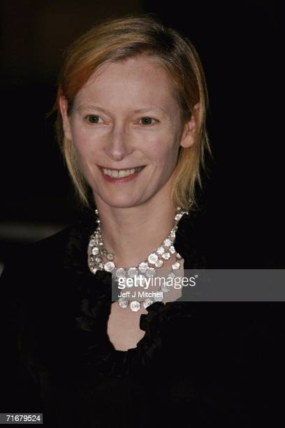 Actress Tilda Swinton arrives at the Edinburgh International Film Festival 60th party at National Gallery August 19 2006 in Edinburgh United Kingdom