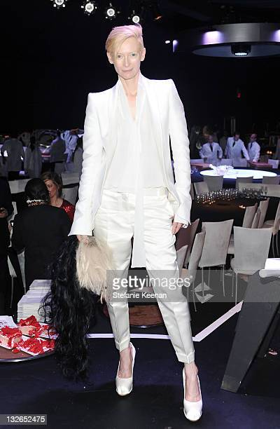 Actress Tilda Swinton attends 2011 MOCA Gala An Artist's Life Manifesto Directed by Marina Abramovic at MOCA Grand Avenue on November 12 2011 in Los...