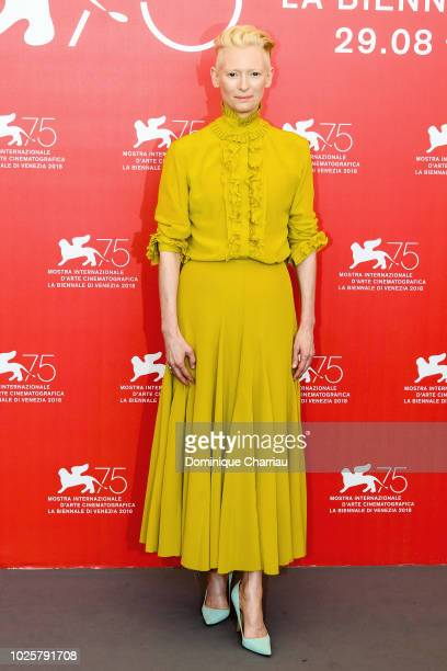 Actress Tilda Swinton attends 'Suspiria' photocall during the 75th Venice Film Festival at Sala Casino on September 1, 2018 in Venice, Italy.