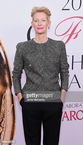 Actress Tilda Swinton attends the 2016 CFDA Fashion Awards at the Hammerstein Ballroom on June 6, 2016 in New York City.