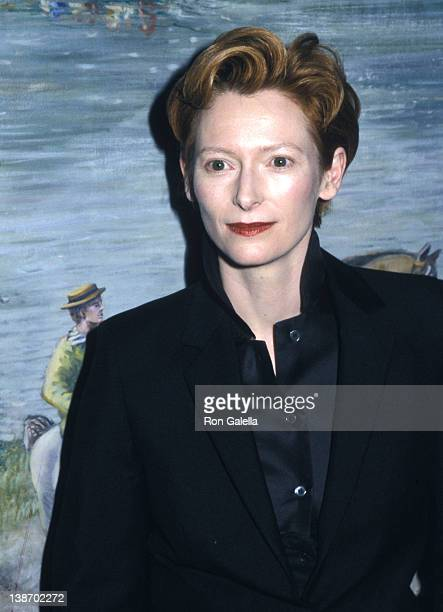 Actress Tilda Swinton attends the 73rd Annual National Board of Review of Motion Pictures Awards on January 7 2002 at Tavern on the Green in New York...