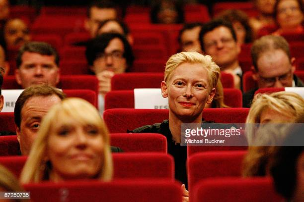 Actress Tilda Swinton attends the ITV Global Entertainment The Film Foundations World Premiere of The Restoration of Michael Powell Emeric...