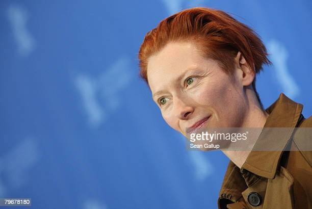 Actress Tilda Swinton attends the 'Julia' Photocall and Press Conference as part of the 58th Berlinale Film Festival at the Grand Hyatt Hotel on...
