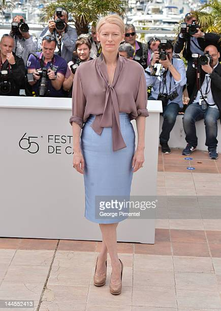 Actress Tilda Swinton attends the 'Moonrise Kingdom' Photocall during the 65th Annual Cannes Film Festival at the Palais des Festivals on May 16 2012...