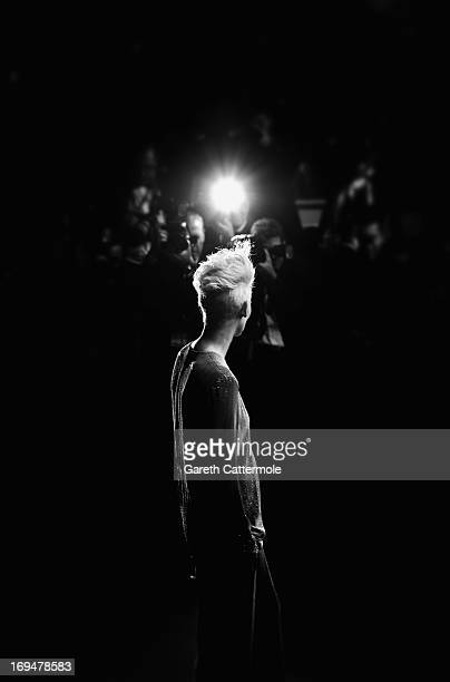 Actress Tilda Swinton attends the 'Only Lovers Left Alive' premiere during The 66th Annual Cannes Film Festival at the Palais des Festivals on May...