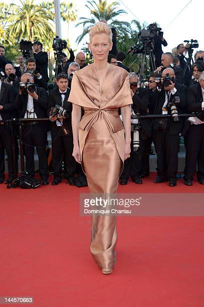 Actress Tilda Swinton attends the Opening Ceremony and 'Moonrise Kingdom' Premiere during the 65th Annual Cannes Film Festival at the Palais des...