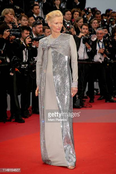 Actress Tilda Swinton attends the opening ceremony and screening of The Dead Don't Die during the 72nd annual Cannes Film Festival on May 14 2019 in...