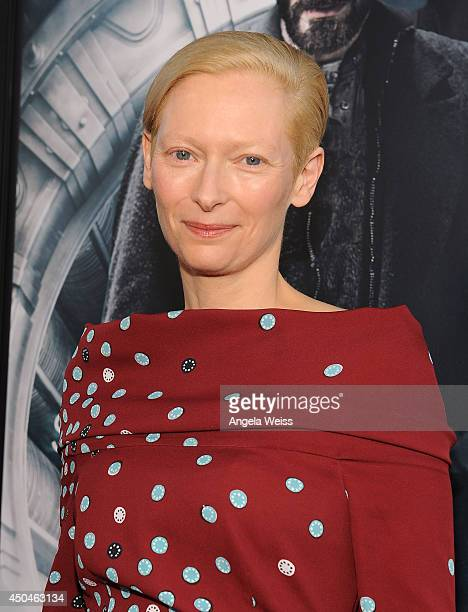 Actress Tilda Swinton attends the opening night premiere of Snowpiercer during the 2014 Los Angeles Film Festival at Regal Cinemas LA Live on June 11...