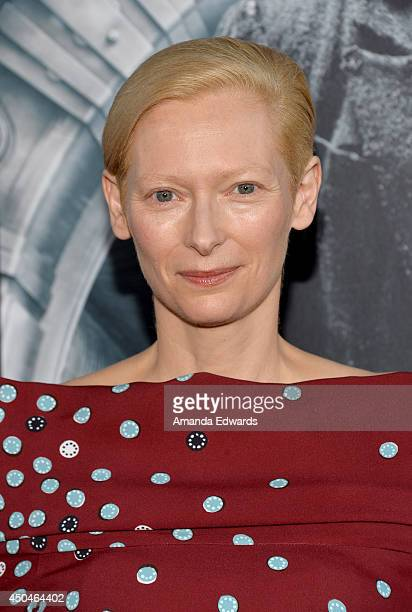 Actress Tilda Swinton attends the opening night premiere of 'Snowpiercer' during the 2014 Los Angeles Film Festival at Regal Cinemas LA Live on June...