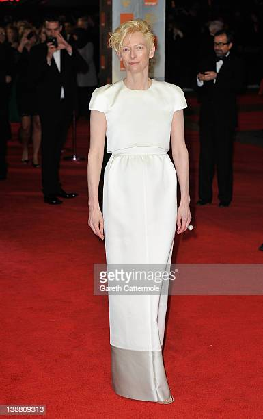 Actress Tilda Swinton attends the Orange British Academy Film Awards 2012 at the Royal Opera House on February 12 2012 in London England