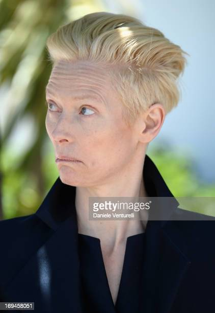 Actress Tilda Swinton attends the photocall for 'Only Lovers Left Alive' at the 66th Annual Cannes Film Festival at the Palais des Festivals on May...