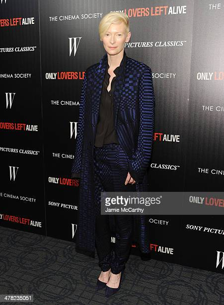 """Actress Tilda Swinton attends the Sony Pictures Classics' """"Only Lovers Left Alive"""" screening hosted by The Cinema Society and Stefano Tonchi,..."""