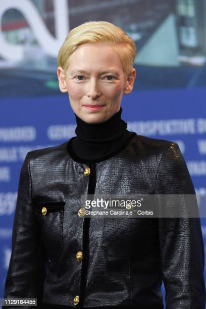 Actress Tilda Swinton attends the The Souvenir press conference during the 69th Berlinale International Film Festival Berlin at Grand Hyatt Hotel on...