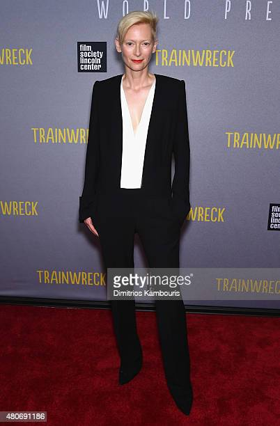 Actress Tilda Swinton attends the 'Trainwreck' New York Premiere at Alice Tully Hall on July 14 2015 in New York City