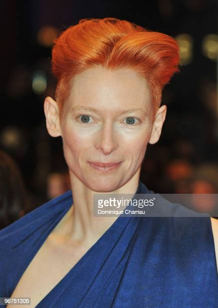Actress Tilda Swinton attends the 'Tuan Yuan' Premiere during day one of the 60th Berlin International Film Festival at the Berlinale Palast on...