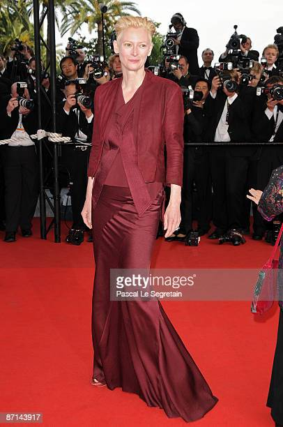 """Actress Tilda Swinton attends the """"Up"""" Premiere at the Palais De Festival during the 62nd International Cannes Film Festival on May 13, 2009 in..."""