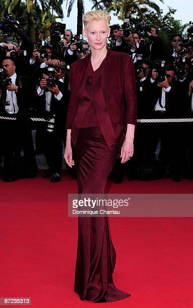 Actress Tilda Swinton attends the 'Up' Premiere at the Palais des Festivals during the 62nd Annual Cannes Film Festival on May 13 2009 in Cannes...