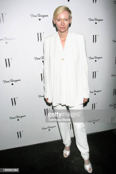 Actress Tilda Swinton attends the W Magazine's celebration of the 69th annual Golden Globe Awards on January 13, 2012 in Los Angeles, California.