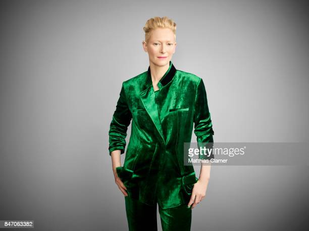Actress Tilda Swinton from 'Dr Strange' is photographed for Entertainment Weekly Magazine on July 23 2016 at Comic Con in the Hard Rock Hotel in San...