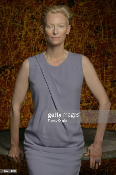Actress Tilda Swinton from the film Lo Sono L'Amore poses for a portrait session at the Foscari 3 during the 66th Venice Film Festival on September 5...