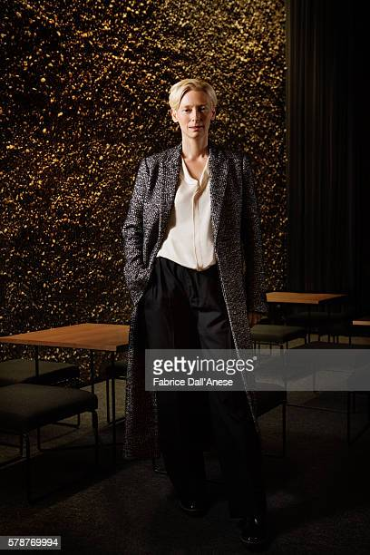 Actress Tilda Swinton is photographed for GQ Germany on February 19 2016 in Berlin Germany