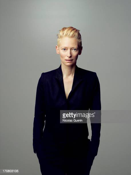 Actress Tilda Swinton is photographed for Self Assignment on May 20 2013 in Cannes France