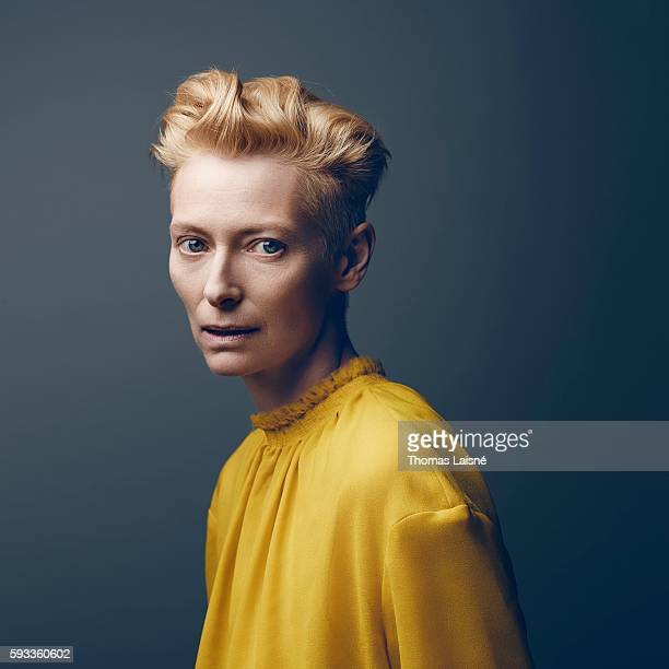 Actress Tilda Swinton is photographed for Self Assignment on November 22 2013 in Paris France