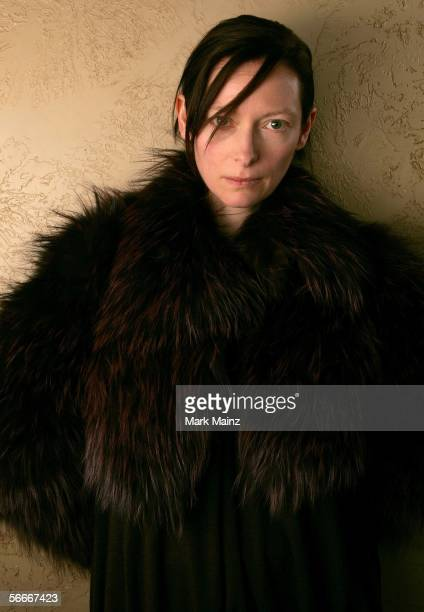 Actress Tilda Swinton of the film 'Stephanie Daley' poses for a portrait at the Getty Images Portrait Studio during the 2006 Sundance Film Festival...