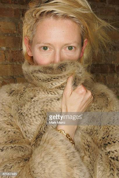 Actress Tilda Swinton poses during the portraits session for 'Thumbsucker' at the VW Lounge during the 2005 Sundance Film Festival on January 24 2005...