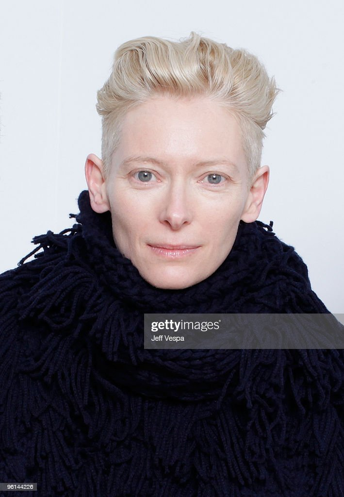 Actress Tilda Swinton poses for a portrait during the 2010 Sundance Film Festival held at the WireImage Portrait Studio at The Lift on January 24, 2010 in Park City, Utah.