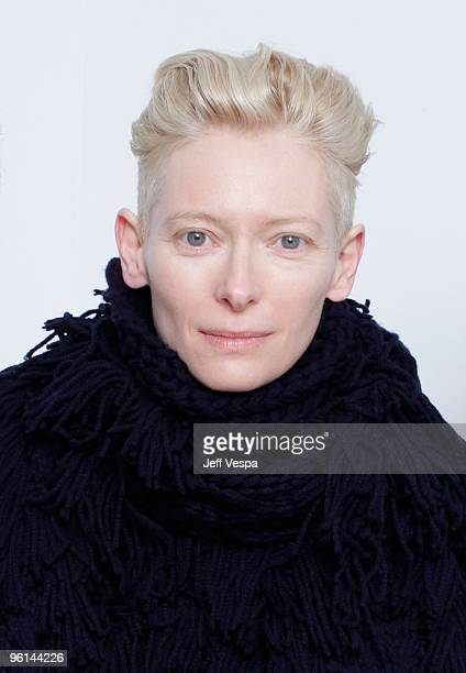 Actress Tilda Swinton poses for a portrait during the 2010 Sundance Film Festival held at the WireImage Portrait Studio at The Lift on January 24...