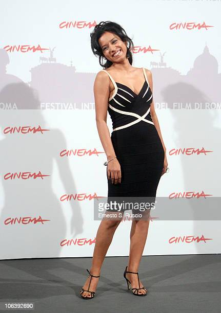 Actress Tillotama Shome attends the Gangor photocall during The 5th International Rome Film Festival at Auditorium Parco Della Musica on October 31...