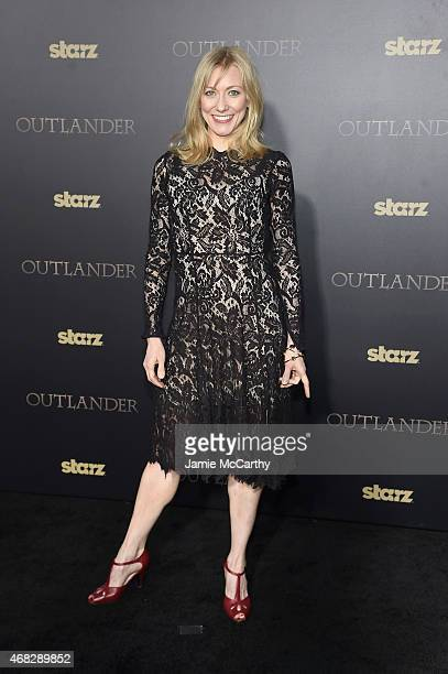 Actress Tina Benko attends the 'Outlander' midseason New York premiere at Ziegfeld Theater on April 1 2015 in New York City