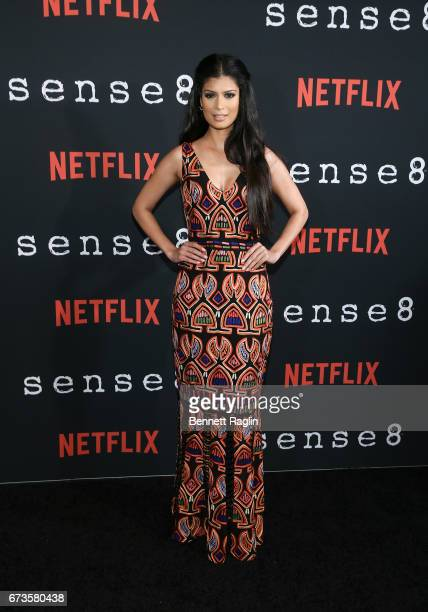 Actress Tina Desai attends the Sense8 New York premiere at AMC Lincoln Square Theater on April 26 2017 in New York City