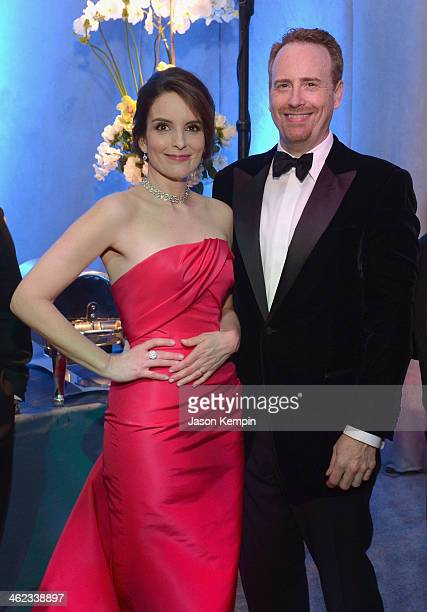 Actress Tina Fey and Chairman NBC Entertainment Rob Greenblatt attend the Universal NBC Focus Features E sponsored by Chrysler viewing and after...