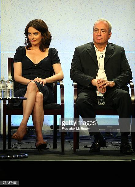 Actress Tina Fey and executive producer Lorne Michaels speak for the television show 30 Rock during the NBC Univesal Cable portion of the Television...