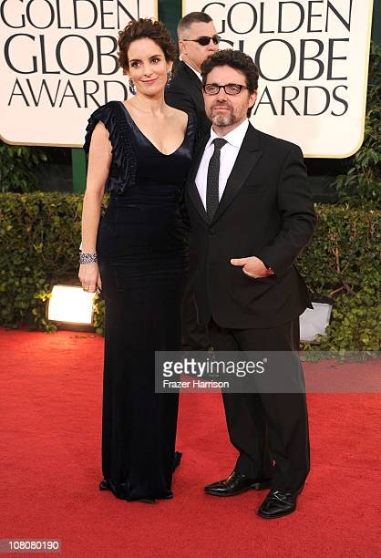 Actress Tina Fey and Jeff Richmond arrive at the 68th Annual Golden Globe Awards held at The Beverly Hilton hotel on January 16, 2011 in Beverly...