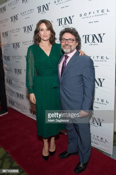 Actress Tina Fey and Jeff Richmond attend the 2018 Tony Honors For Excellence In The Theatre and 2018 Special Award Recipients Cocktail Party at the...